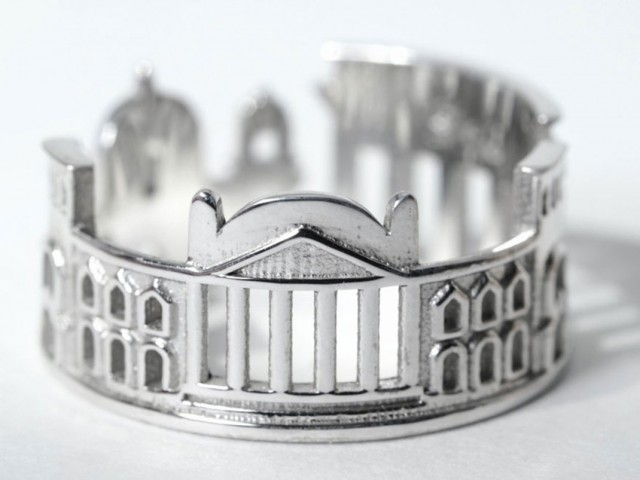 Rings made as the architectures of famous cities--14