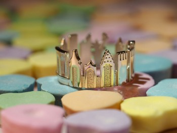 Rings made as the architectures of famous cities--23
