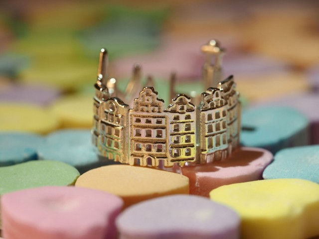Rings made as the architectures of famous cities--27