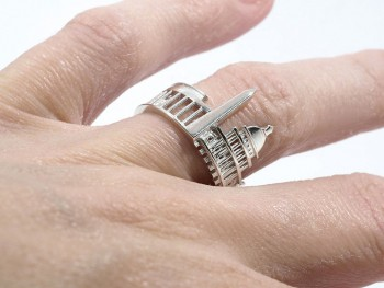 Rings made as the architectures of famous cities--34