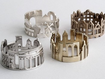 Rings made as the architectures of famous cities--35