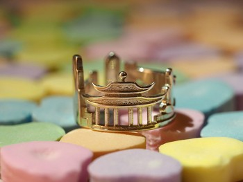 Rings made as the architectures of famous cities--7