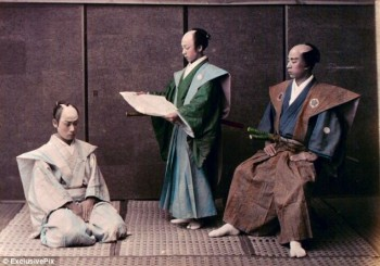 Very Rare Color Photographs Of Samurais Resurface-10