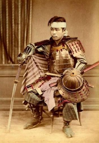 Very Rare Color Photographs Of Samurais Resurface-7