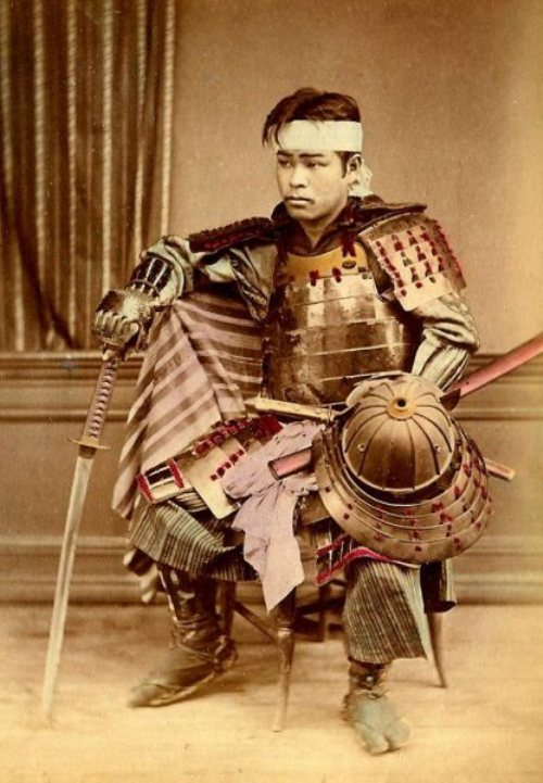 Very Rare Color Photographs Of Samurais Resurface-7