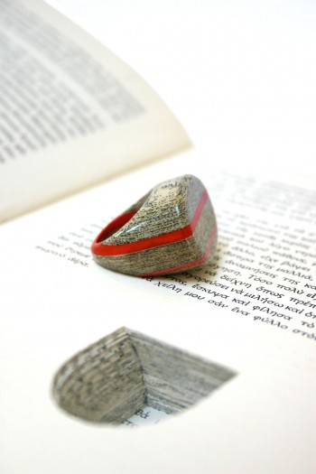 Jeremy Gives New Life To Old Book Pages Turning Them Into Delicate Jewelry-