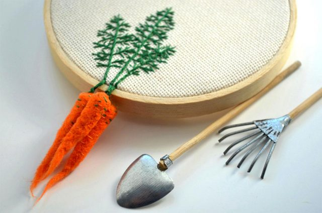 Artist Creates Amazing Embroideries Shaped As Vegetables--1