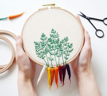 Artist Creates Amazing Embroideries Shaped As Vegetables-