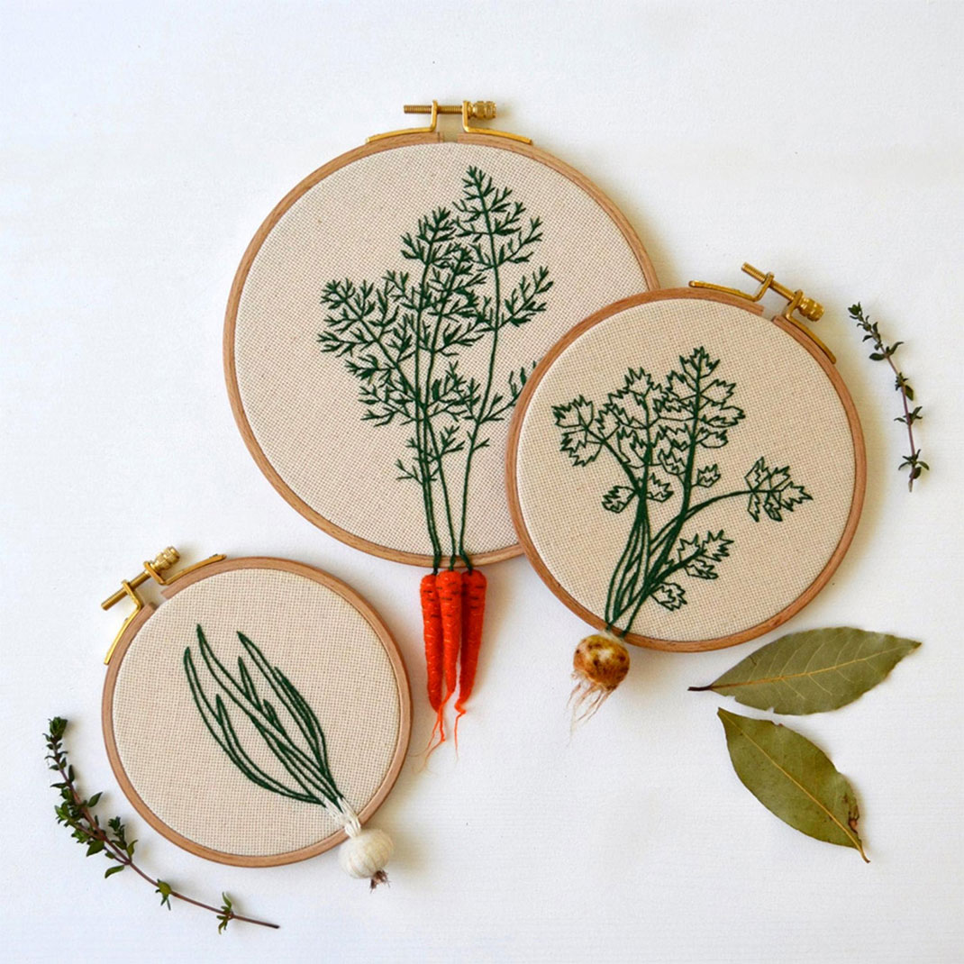 Artist Creates Amazing Embroideries Shaped As Vegetables--7