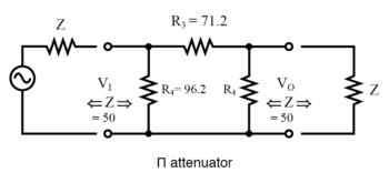 Π attenuator diagram