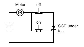 DC motor start/stop control circuit