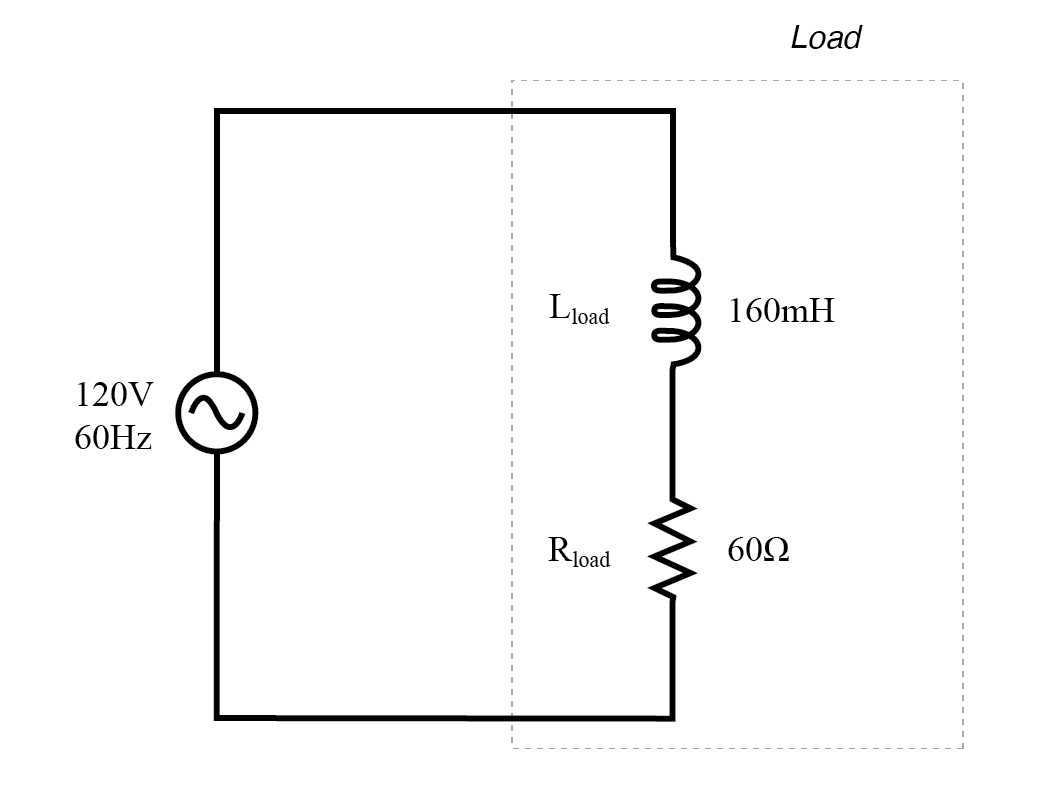 AC circuit with both reactance and resistance.