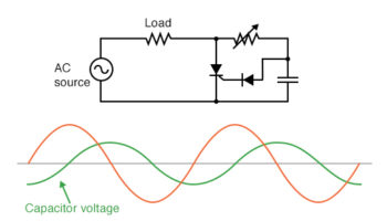 addition of a phase shifting capacitor to the circuit