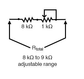 adjustment range example