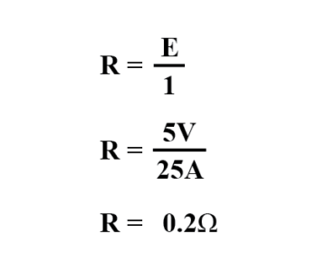 allowable resistance using ohms law
