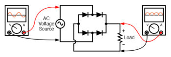 alternative layout style for full wave bridge rectifier