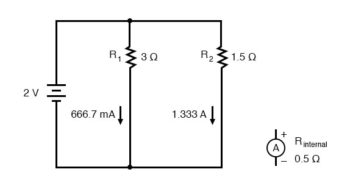 ammeter affect the current