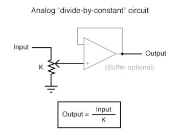 analog divide by constant circuit