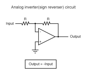 analog inverter sign reverser circuit