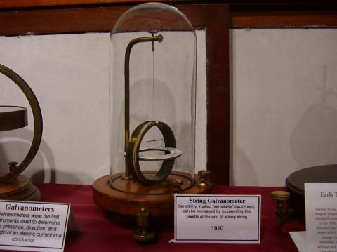 antique string galvanometer
