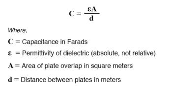 approximation of capacitance formula
