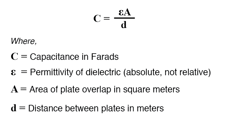 approximation of capacitance formula