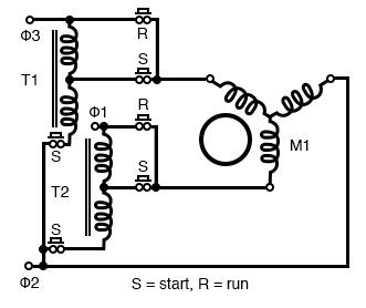 autotransformer induction motor starter