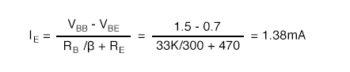 base resistor standard value calculation