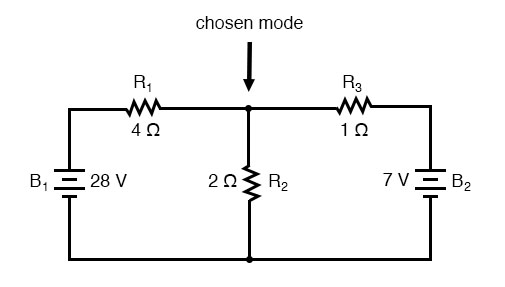 branch current method junction of wires circuit