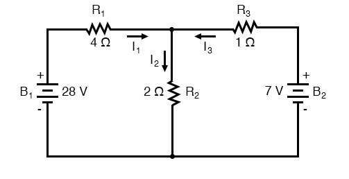 branch current-method-junction-of-wires-circuit