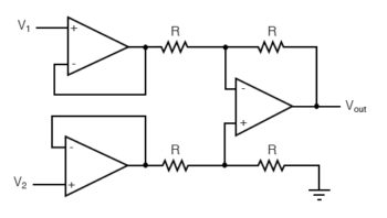 buffer the input voltage signal