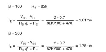 calculated base resistor lower than previous
