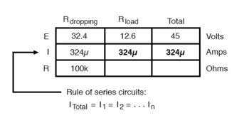 calculating load resistance for certain dropping resistors table4