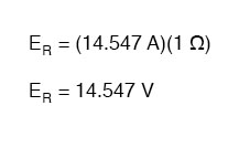 calculating voltage drops across resistance