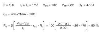 calculation of emitter bias