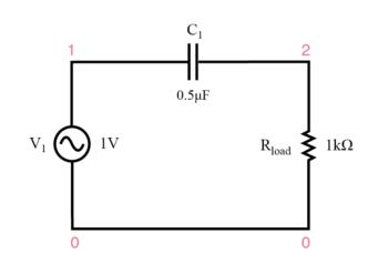 capacitive high pass filter circuit