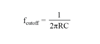 capacitive high pass filters cutoff frequency formula