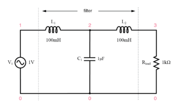 capacitive inductive low pass filter