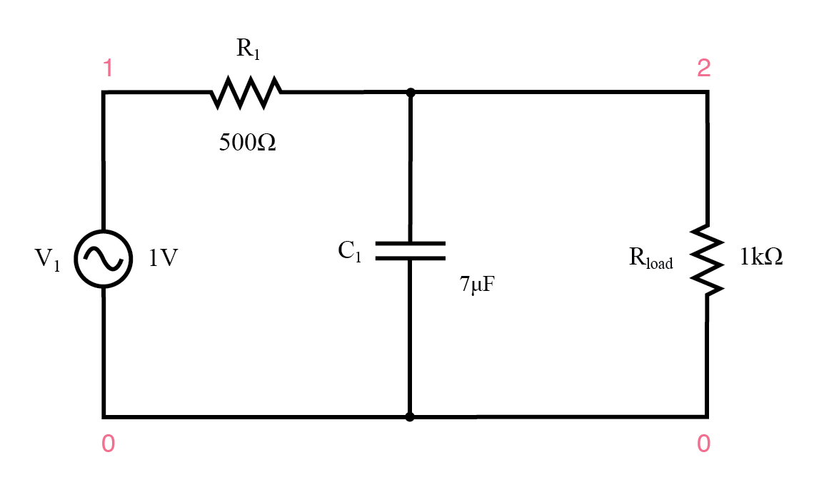 Capacitive low-pass filter