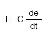 capacitor and rate of voltage formula