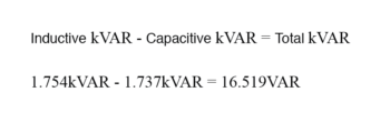 capacitor reactive power subtract from load reactive power