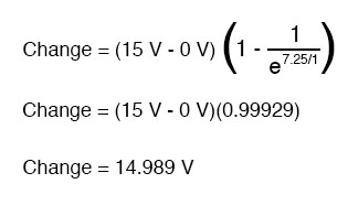 capacitor voltage circuit equation
