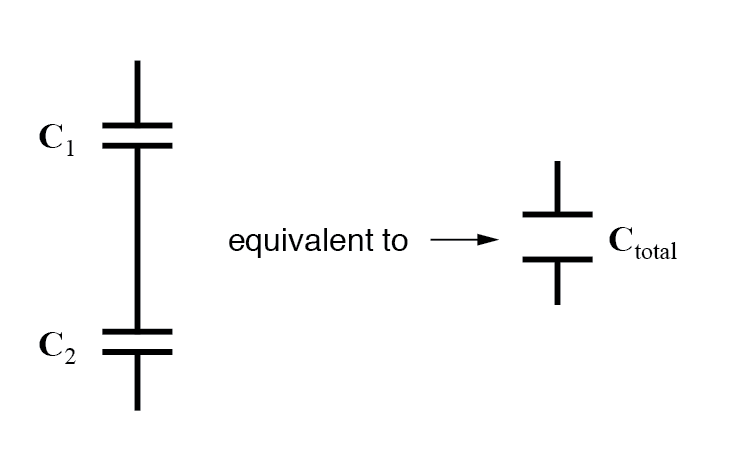 capacitors connected in series