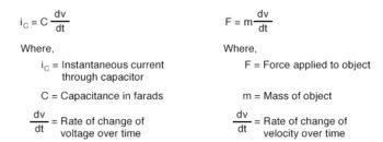 capacitors current equation