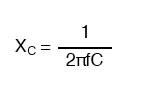 capacitors reactance formula