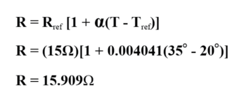 change of resistance equation