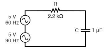 circuit driven by a combination of frequencies
