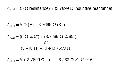 total circuit impedance