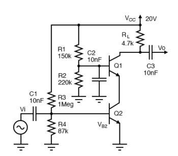 class a cascode small signal high gain amplifier