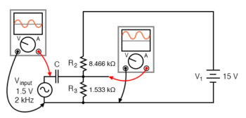 combined ac and dc circuit